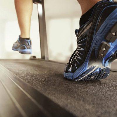 Running on treadmill in abu dhabi, uae
